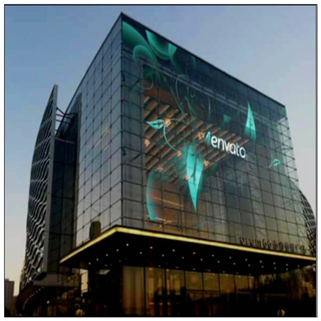Vios Full Color Ultra Thin Transparent LED Display Screen Outdoor with 8 - 100m Viewing Distance