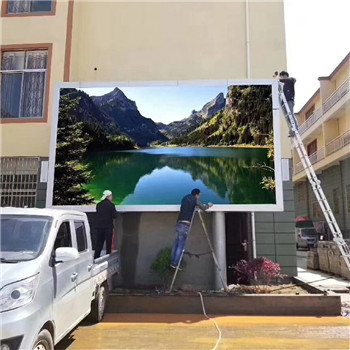 Fixed Outdoor Digital Advertising Screens 5000CD/Sqm Brightness With Alimunum Cabinet