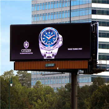 HD Billboard Advertising LED Display Screen P4 Fixed Installation Color Uniformity