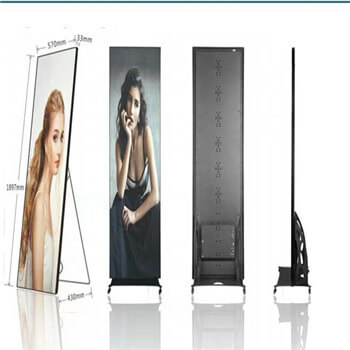 Indoor Standing Full HD LED TV Creative Display Panels 1.9mm Hd For Advertising